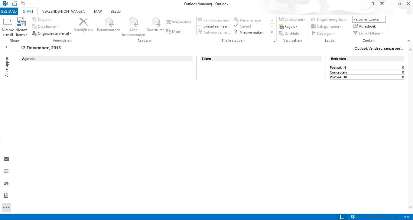 Outlook 2013 Stap 1 - Emailaccount configureren