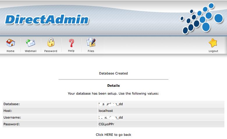 Database is aangemaakt!