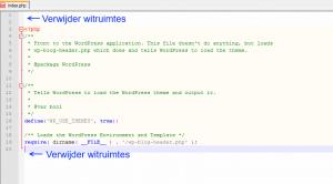 Verwijder de witruimtes in WordPress