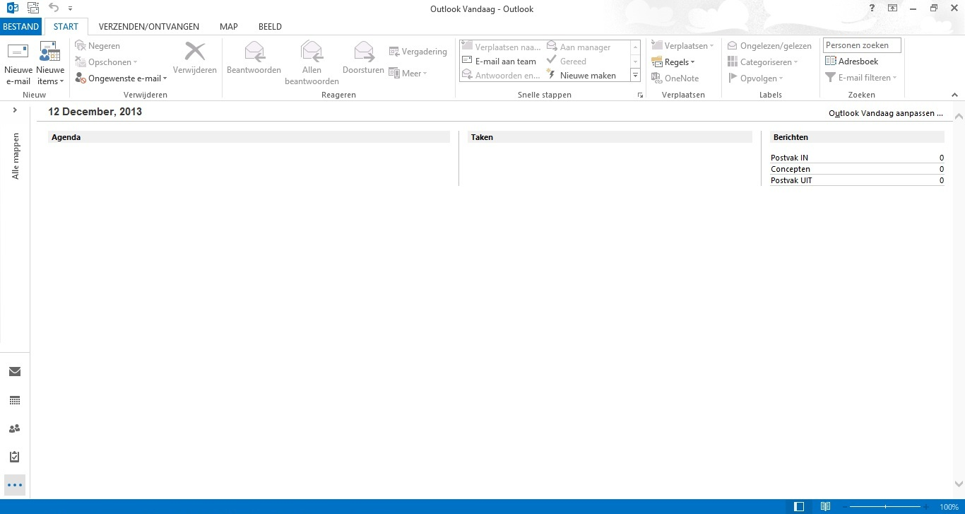 Outlook 2013 Stap 1 - Emailaccount configureren