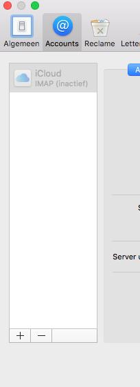 "Apple/MacOS- stap 3.2: E-mail instellen ""Accounts"""