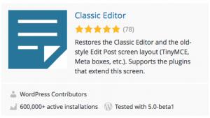 WordPress / Classic Editor